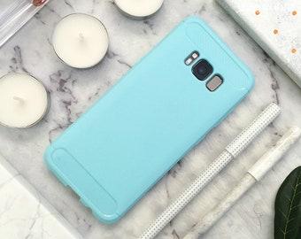 Rubber Samsung Galaxy Case Galaxy Case Galaxy S8 Case Galaxy S8 Plus Case Galaxy S8+ Case Light Green Blue