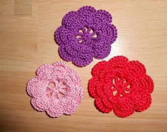 crochet flower/crocheted flower