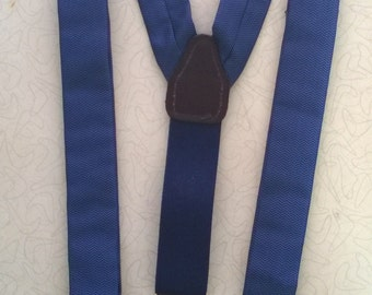 Vintage 1980's Blue Suspenders by CAS, Made in W. Germany
