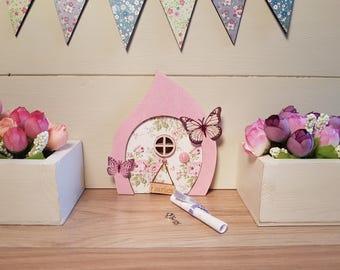 Fairy Door Elf or Hobbit Door Fairy Delainie Pink Blush
