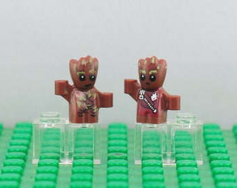 Baby Groot Custom minifigures 2 pcs (Lego Compatible) Marvel Comics Guardians of the Galaxy 2 Superhero Howling Commandos Rocket Raccoon