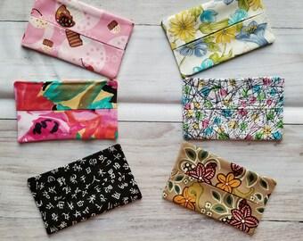 Pocket tissue holder, four options, tissue storage, tissue holder, purse tissue holder, purse accessories, travel tissue holder, small gift