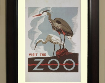 Visit the Zoo Birds WPA Poster - 3 sizes available, one price.