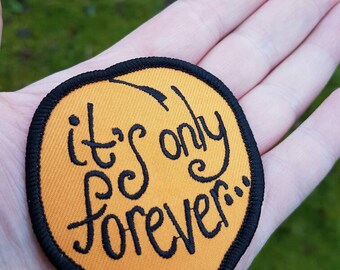It's only forever * Labyrinth iron on patch / David Bowie / 80s movie / Peach / Jareth / Goblin King / Babe with the Power /pin