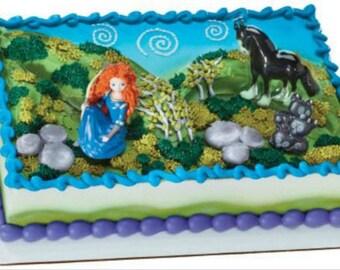 Brave Merida movie figurine cake decoration Decoset cake topper set toys