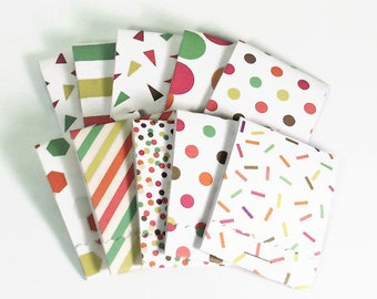 Set of 20 Matchbook Notepads Mini Note Pads in Confetti