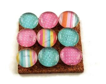 Funky Push Pins Decorative Thumb Tacks Bulletin Board Pins  in  Spring (P34)