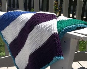 Cozy cotton crocheted blanket