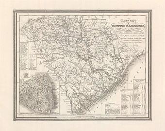 1848 Map of South Carolina