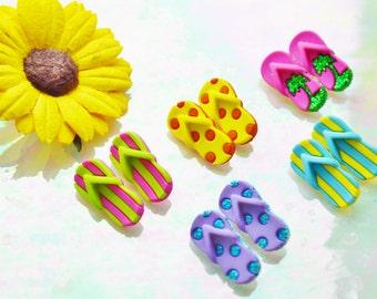 Flip Flops  ~Terrarium Accessory ~ Buttons ~ 1 pair ~ Your choice at checkout
