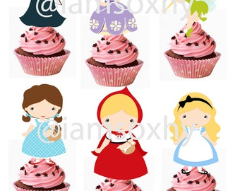 24 fairytale girls ( Merida,Sofia The First,Tinkerbell,Dorothy,Little Red Riding Hood, and Alice in Wonderland)