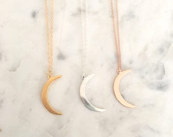 This Is Us moon necklace, Inspirational necklace, Gold Crescent Moon Necklace, Mothers day Gift, This Is Us Necklace, celestial jewelry