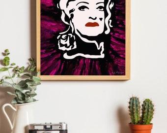 Betty Davis 16x20 inch  Digital  Download Print