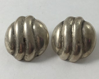 9.7 Grams Sterling Silver Finish 1 inches Best Round Button  Studs Earrings