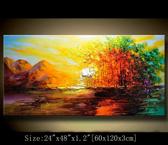 Abstract Wall Painting expressionism Textured
