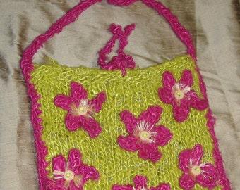 Boho Chic Banana Silk Knitted Bag
