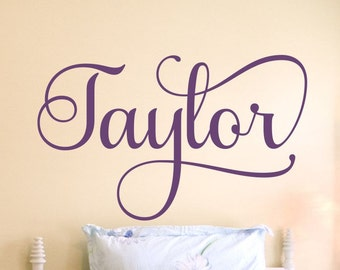 Girls Name Decal Girls Name Wall Decal Personalized Monogram Bedroom Decor Nursery Vinyl Lettering Childrens Room 7 sizes to choose from