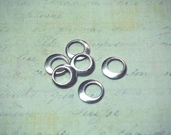 6 rings in silver 11mm
