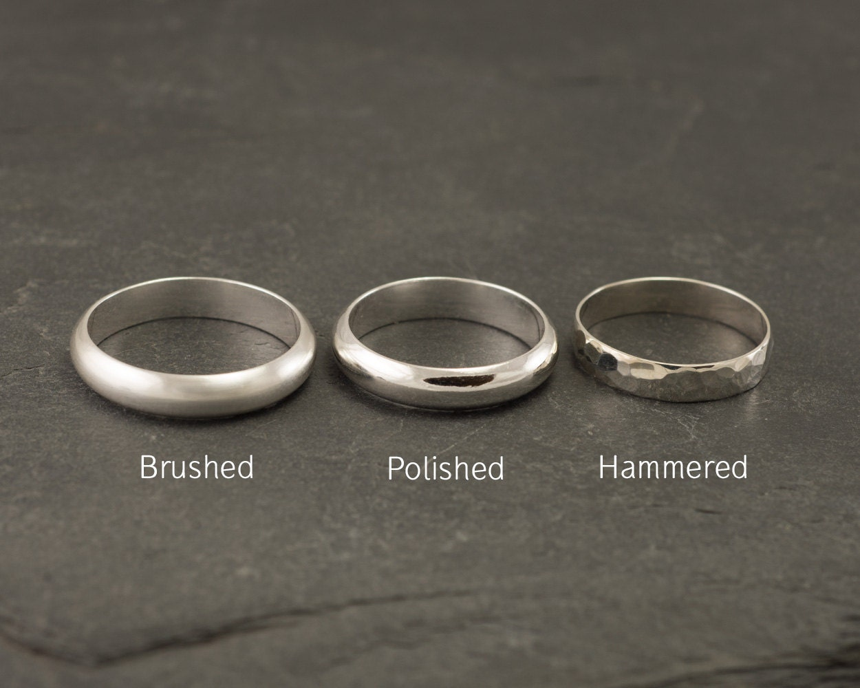 Wedding Band Set Wedding Rings Silver Wedding Rings Sterling
