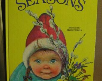 A Golden Book - My Big Book of the Seasons - Eloise Wilkin - 1966