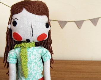Rag Doll, Handmade Doll, Girl Doll, Fabric Doll, Cloth Doll, Custom Doll, Custom Portrait Doll, Girlfriend Gift, Wedding Gift
