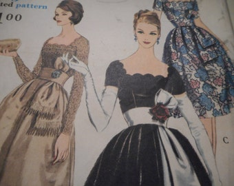 SALE Vintage 1960's Vogue 4941 Special Design Evening Gown and Dramatic Sash Sewing Pattern, Size 14 Bust 34