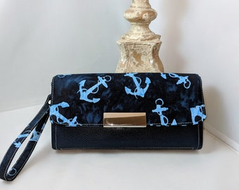 Anchors and Bubbles Clutch Wallet