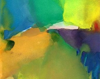 Art Print, Abstract Watercolor, Large 16 x 20, Awakening