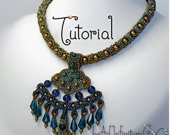 TUTORIAL Delta Queen Necklace with Beaded Pendant and Toggle Clasp