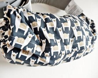 Baby carrier pod/bag/sack/storage  for  Ergo, Tula, Boba, Beco, Manduca, etc...-Lama Navy