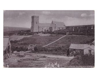 Crantock Church, Near Newquay Silverette Raphael Tuck & Sons Hartnoll's Series NEWQUAY postcard