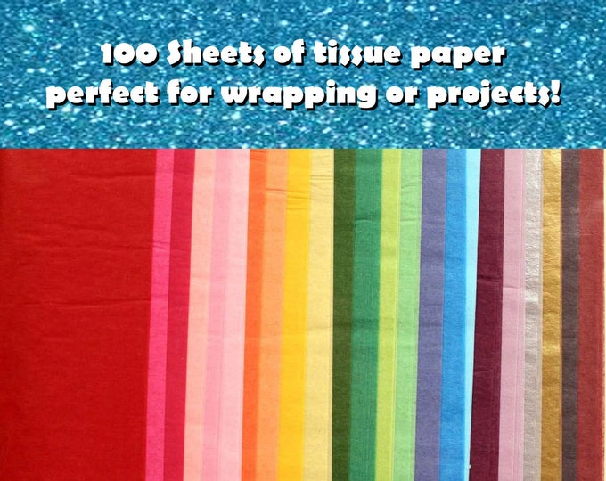 """100 Tissue Paper Sheets 