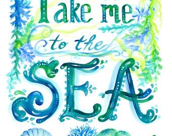 Sea Art Instant Download art beach decor Beach nautical ocean sea print