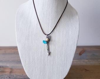 Handmade Charmed Arrow Pendant Necklace