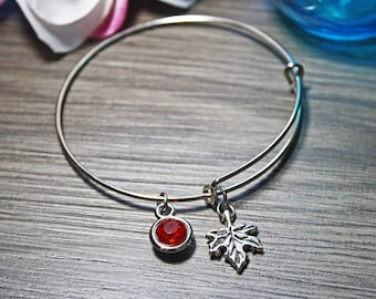 Expandable Bracelet, Maple Leaf Expandable Bracelet, Canadian Expandable Bracelet