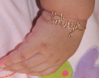 Baby Gold Bracelet Baby Personalized Bracelet Gold Baby