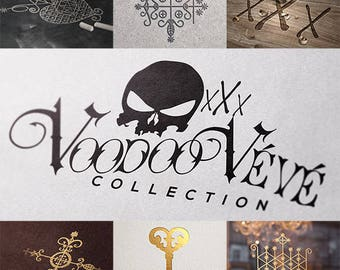 Louisiana New Orleans Voodoo Veve Symbols for Scrapbooking