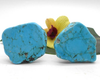 Knobs, Stone Knobs, Cabinet Knobs, Turquoise -Set of 2, Stone Cabinet Knobs, Kitchen Knobs and Pulls, Southwest, Stone Knobs