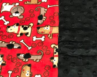 dogs baby blanket Baby Blanket gender neutral shower gift red baby blanket double Minky blanket dog baby blanket gender neutral dog blanket