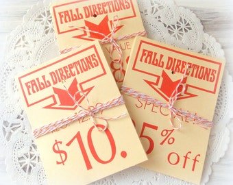 Set of Vintage Merchandise Sale Tags