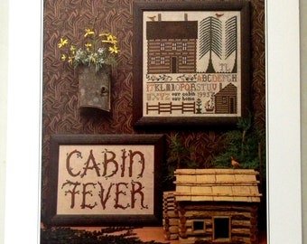Cabin Fever Sampler Counted Cross Stitch Pattern Chart