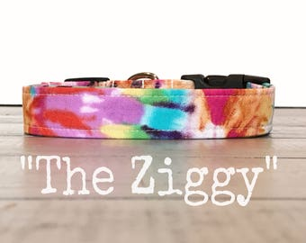 Dog Collars for Girls, Rainbow, Colorful Dog Collar, Tie-Dye Dog Collars