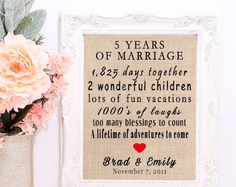 Th anniversary gift custom gift for her th year wedding