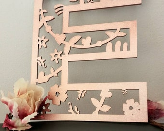 Intricate | Laser Cut | Floral | Stars and Swirls | Wall Letters | Any Name, Word or Letter | Removable Foam Tape | Lettering | Home Decor