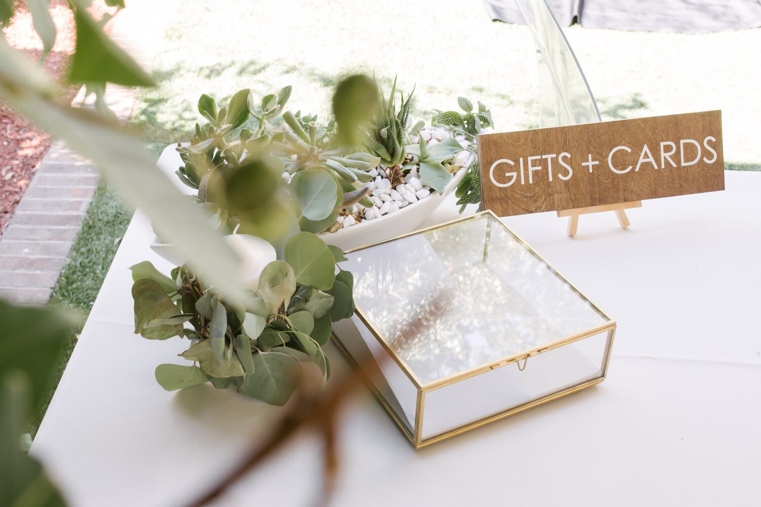 Gifts and Cards Sign Modern Wooden Wedding Signs Wood
