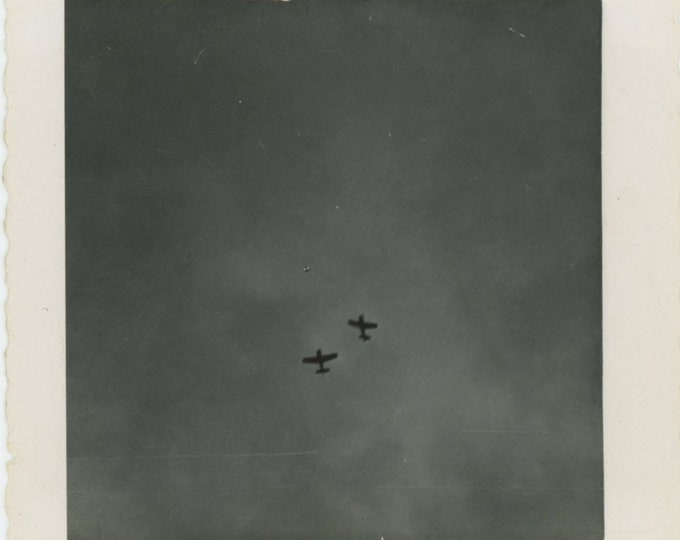 "Vintage Snapshot Photo: Two ships formation No.1 is just in the 'pitch out'"" [84662]"