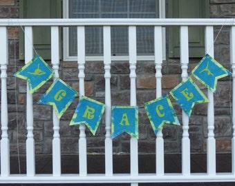 Gymnast Burlap Banner,Name Burlap Banner Burlap Banner, Personalized, Fun, Unique - Birthday, Gift, Bedroom, Doorway, Photo Shoot, Special