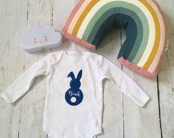easter, easter gift, baby shower gift, organic cotton, baby bodysuit, rabbit body suit, bunny body suit, bunny tshirt, bunny vest,