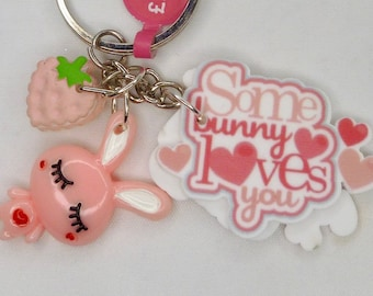 Some Bunny Loves You Keyring/Keychain