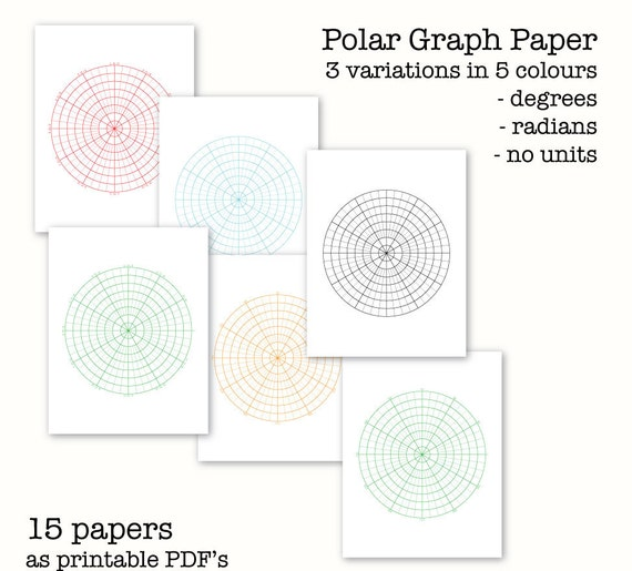 Polar Graph Papers  Circular Graph Paper  Digital Graph Paper